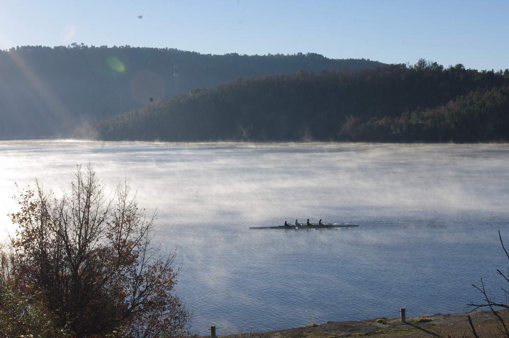 Aviron en hiver sur lac St Cassien